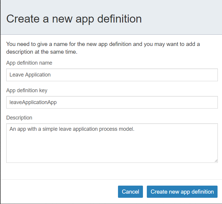 Create the Leave Application app